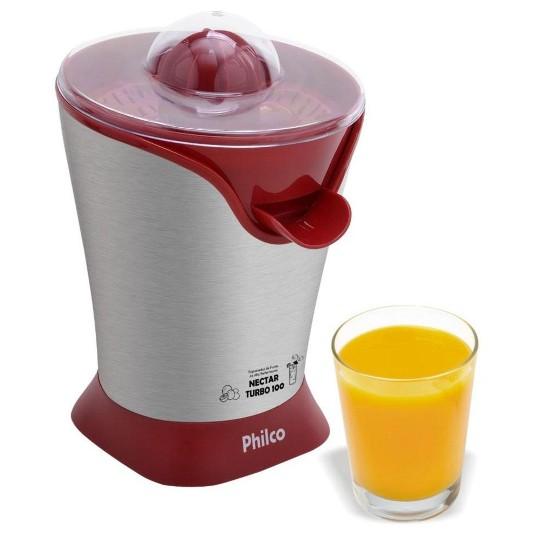 Espremedor Philco Nectar Turbo Vermelho 100w Pef01 220v
