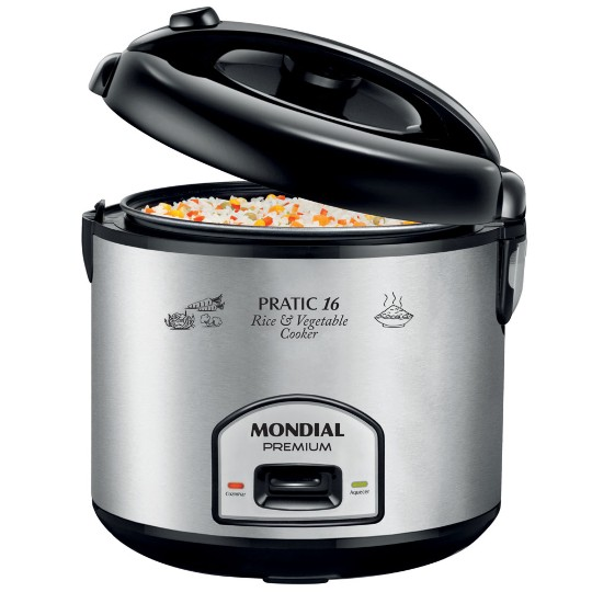 Panela Elétrica de Arroz Mondial Pratic Rice & Vegetables Cooker 16 Premium 220v Pe-14