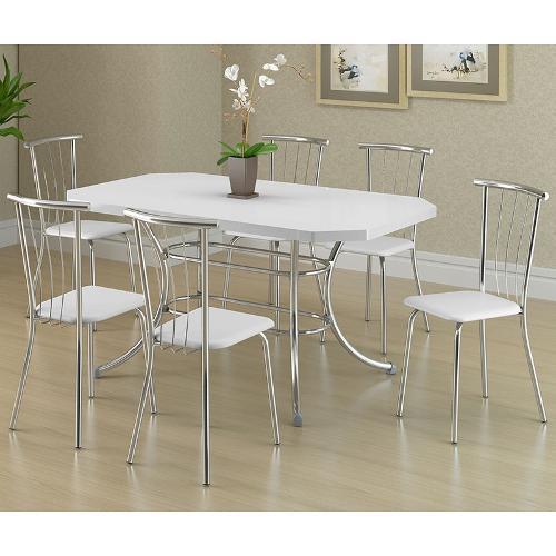 Conjunto de Mesa e Cadeira Mesa 1507/ 6 Cadeiras 154 Carraro