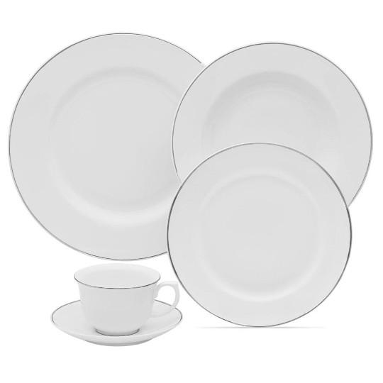 Aparelho de Jantar e Chá Flamingo White 30 Peças - Oxford