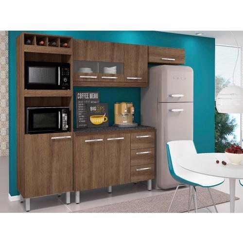 Cozinha Completa Movemax Móveis Júlia 8 Portas 3 Gavetas