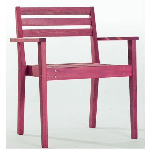 Banco Cadeira Quarter Apoio para Braços Stain Lilás Mão e Formão