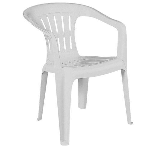 Cadeira Poltrona Atalaia Branco Com 4 Peças Tramontina