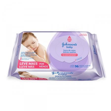 Lenço Umedecido Hora do Sono - 96 Unidades Johnsons Baby