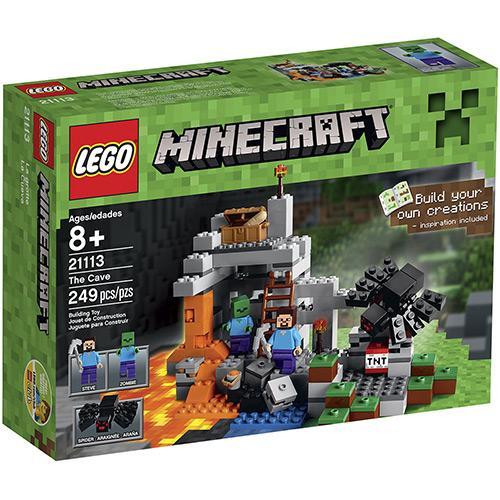 Lego Minecraft a Caverna 249 Peças 21113