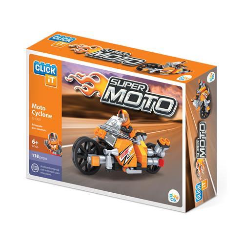 Play Cis Super Moto Cyclone 118 Peças Cl-cr01