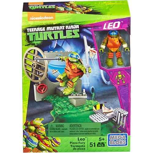 Mattel Mega Bloks Tartarugas Ninja Animation Conjunto Treinamento Leonardo Dmx33/dmx34