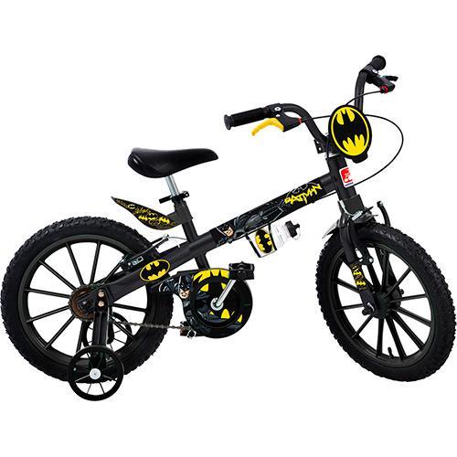 Bicicleta Bandeirante Batman Aro 16 Rígida 1 Marcha - Preto