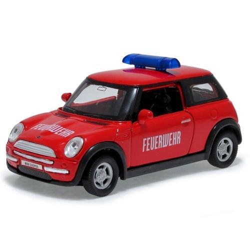 Carrinho Mini Cooper Bombeiro(alemanha) Feuerwehr 1:34 Welly