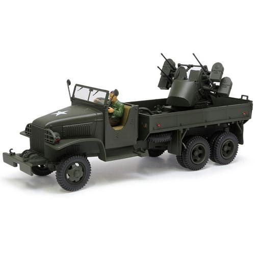 Caminhão Militar Gmc 2.5 Ton Cargo Truck 4x0.5 Aa Machine Gun 1:32 Unimax