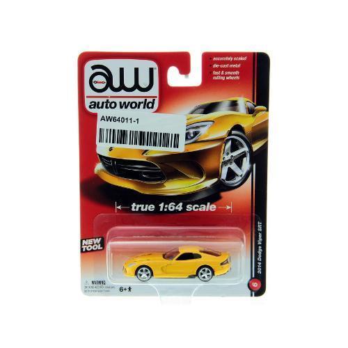 Carrinho Dodge Viper Srt 2014 1:64 Amarelo Aw64011a Autoworld