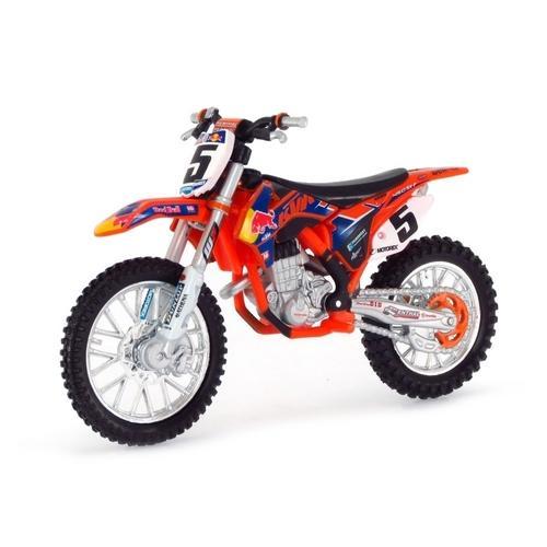 Moto Ktm 450 Sx-f Red Bull Dirt 1:18 Bburago