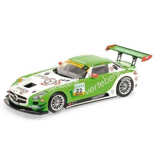 Carrinho Mercedes-benz Sls Amg Gt3 Ms Racing Sigacev/stoll Adac Gt Masters 2011 1:18 Minichamps