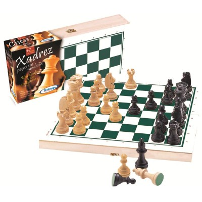 Jogo de Tabuleiro Xadrez em Maderira 6003.2 Xalingo