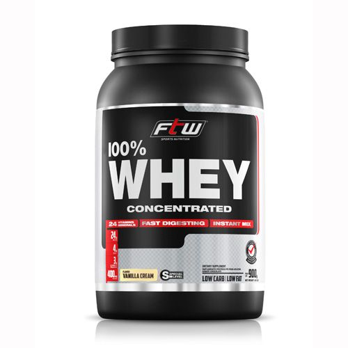 Whey Protein 100% Isolate 900g Chocolate Ftw Suplementos