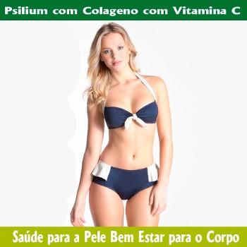 Botânica Tupã Psilium, Colágeno e Vitamina C 60 Cápsulas