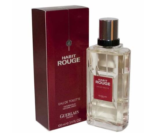 Perfume Habit Rouge Guerlain Eau de Toilette Masculino 100 Ml