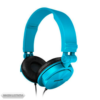 Fone de Ouvido Headphone Dobrável Azul Philips Shl3050tl27