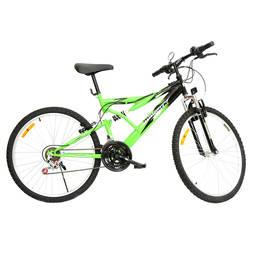 Bicicleta Monark Plus Fs Aro 26 Full Suspensão 21 Marchas - Preto/verde