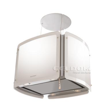 Coifa de Ilha Elettromec 55 Cm Alba Cubo Inox - 220v - Com Vidro Branco - Alba Cubo X2