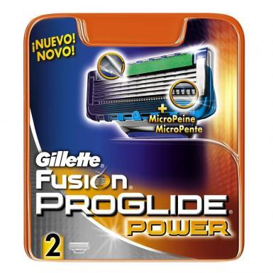 Cartucho Gillette Fusion Proglide Power 2 Unidades