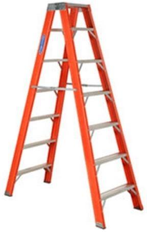 Escada de Fibra Tesoura Duplo Acesso 6 Degraus Tf6 Cogumelo