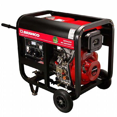 Gerador de Energia Diesel 5500w Branco Monofásico 220v - 90304423