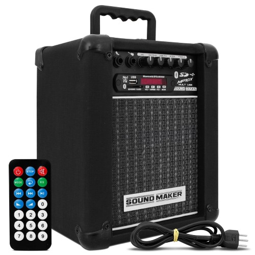 Caixa Acústica Sound Maker Amplificada 10 W Rms Mp10x
