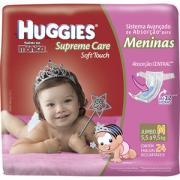 Fraldas Descartáveis Supreme Care Soft Touch Tamanho M C/ 24 Unidades Meninas Huggies