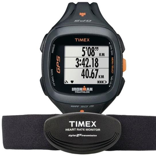 Monitor Cardíaco Relógio Run Trainer 2.0 Preto e Laranja Timex - T5k74