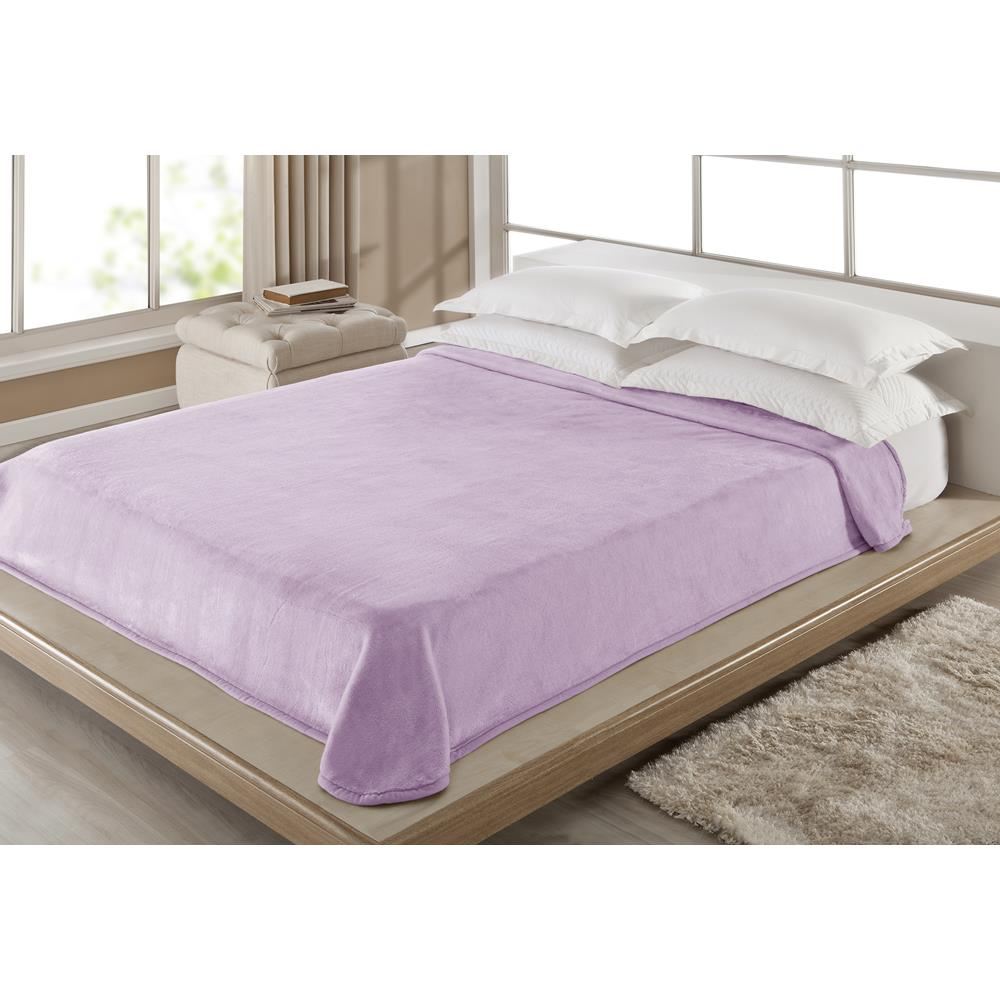 Cobertor King Size Liso Corttex Casa