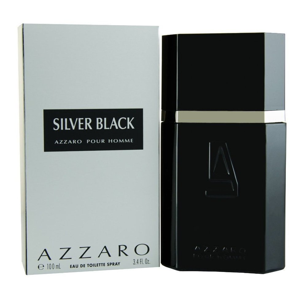 Perfume Silver Black Azzaro Eau de Toilette Masculino 30 Ml