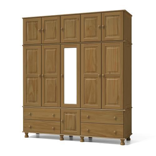 Guarda-roupas Serpil Móveis Com 11 Portas 4 Gavetas Com Espelho - Sp7116