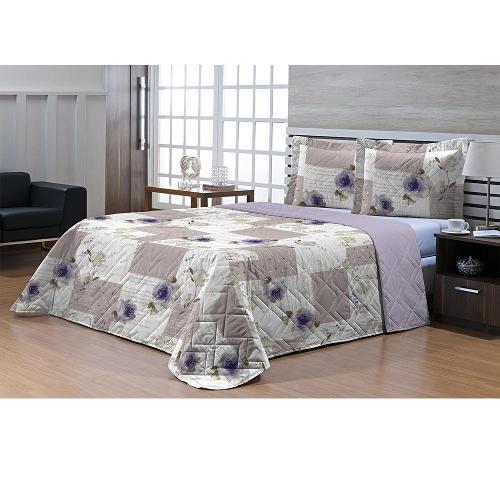 Colcha Textil Lar Queen Top Confort 3 Peças