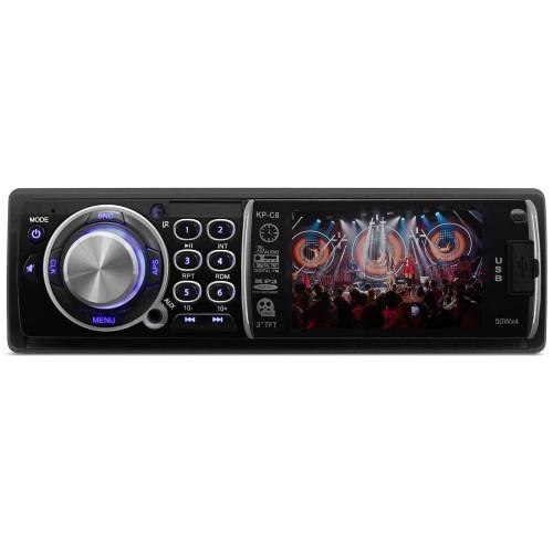 Som Automotivo Com Mp3 / Mp4 Player Knup - Kp-c8