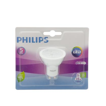 Lâmpada Philips Led Dicróica Gu10 5w 2700k 220v - Led-gu10 5-45w