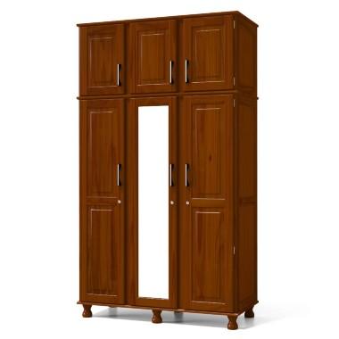 Guarda-roupas Serpil Móveis Com 5 Portas 2 Gavetas Com Espelho - Sp4163
