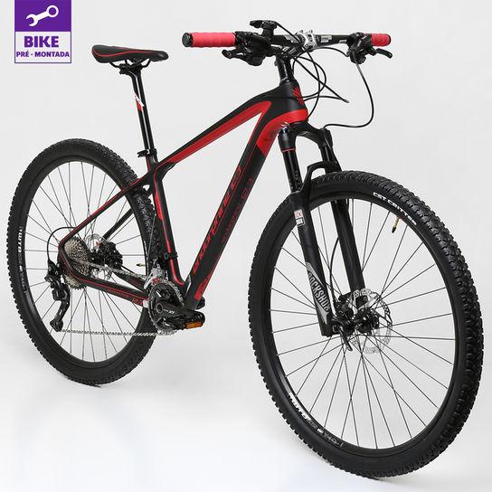 Bicicleta Gonew Endorphine 12.3 T17 Aro 29 Susp. Dianteira 22 Marchas - Preto/vermelho