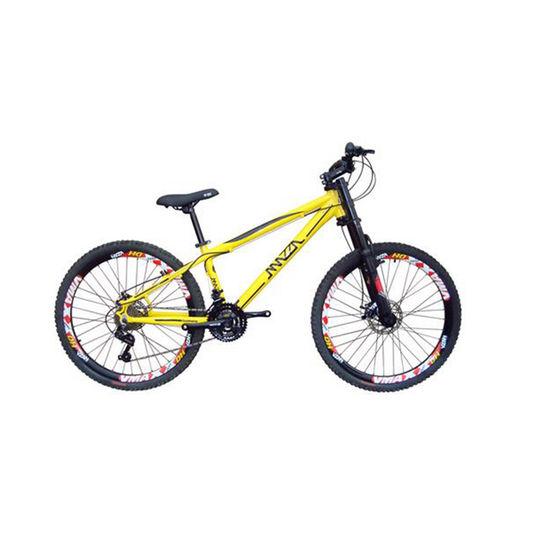 Bicicleta Mazza Reba Disc T13.5 Aro 26 Susp. Dianteira 24 Marchas - Amarelo