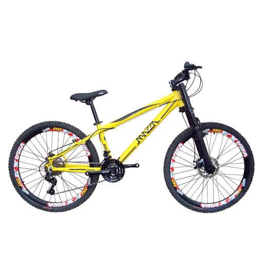 Bicicleta Mazza Reba Vb Aro 26 Susp. Dianteira 21 Marchas - Amarelo