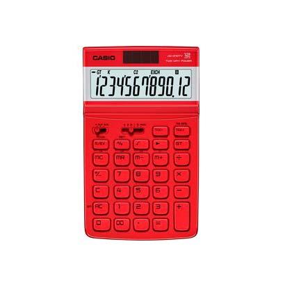 Calculadora 12 Dígitos Vermelha Jw210tvr Casio