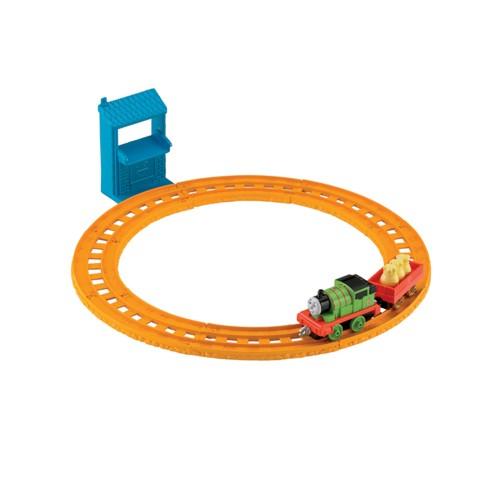 Pista Thomas & Friends Ferrovia Básica Percy Entregador de Cartas Com Veículo Mattel