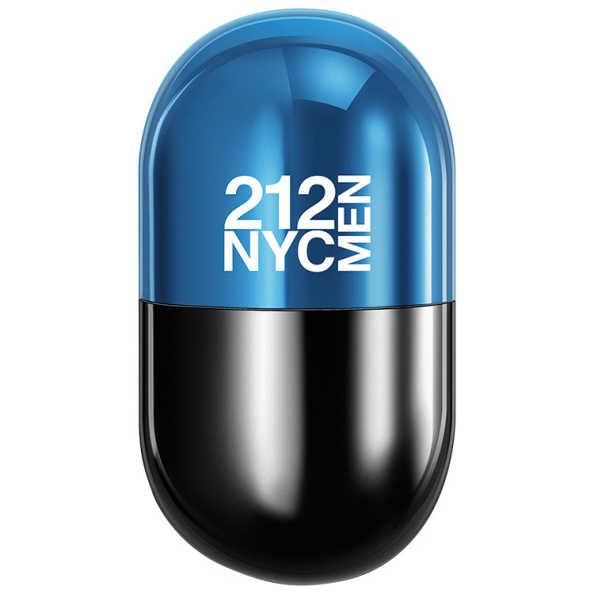 Perfume 212 Men Pills Carolina Herrera Eau de Toilette Masculino 20 Ml