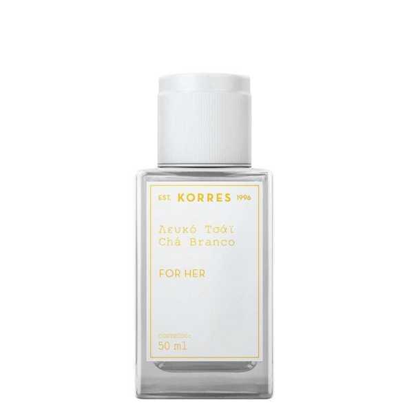 Perfume Chá Branco Korres Eau de Cologne Feminino 50 Ml