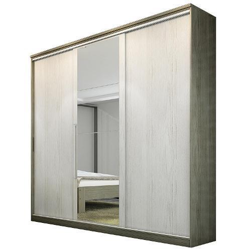 Guarda-roupas Édez Com 3 Portas 3 Gavetas Com Espelho - Ph1194