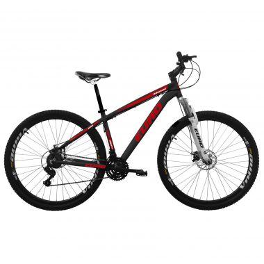 Bicicleta Euro Bikes Disc M Aro 29 Susp. Dianteira 24 Marchas - Preto