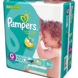 Fraldas Pampers G Total Confort Pacotão - 20 Unidades Pampers