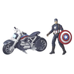 Boneco Capitão América Com Moto Guerra Civil Marvel Legends Series Hasbro