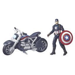 Boneco Capitão América Com Moto Guerra Civil Marvel Legends Series Hasbro