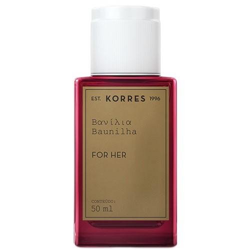 Perfume Baunilha Korres Eau de Cologne Feminino 50 Ml